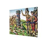 Rene Goulaine de Laudonniere  and Chief Athore Stretched Canvas Prints