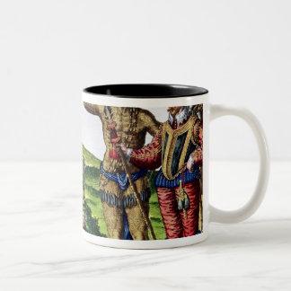 Rene Goulaine de Laudonniere  and Chief Athore Two-Tone Coffee Mug