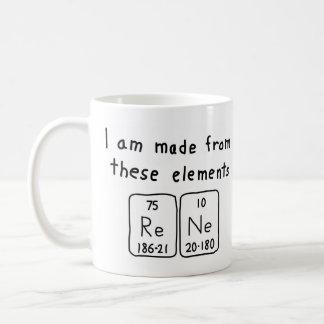 Rene periodic table name mug