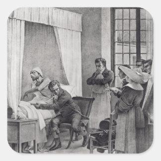 Rene Theophile Hyacinthe Laennec Pegatina Cuadrada