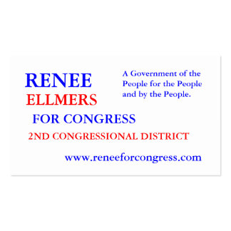 RENEE ELLMERS FOR CONGRESS Double-Sided STANDARD BUSINESS CARDS (Pack OF 100)