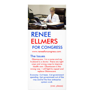 Renee Ellmers For Congress Hand Outs Rack Card