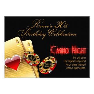 Renee Vegas Casino Night 30th Birthday Party Invitation