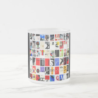"""ReneeAB9 """"Digital Wallpaper"""" Collection Frosted Glass Coffee Mug"""