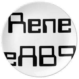 ReneeAB9  Modern Orbit Porcelain Designer Plates