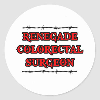 Renegade Colorectal Surgeon Stickers
