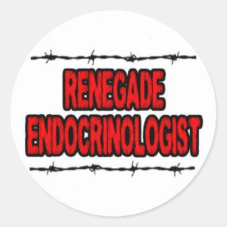Renegade Endocrinologist Classic Round Sticker