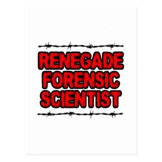 Renegade Forensic Scientist Postcard
