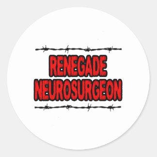 Renegade Neurosurgeon Classic Round Sticker