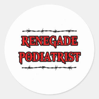 Renegade Podiatrist Classic Round Sticker