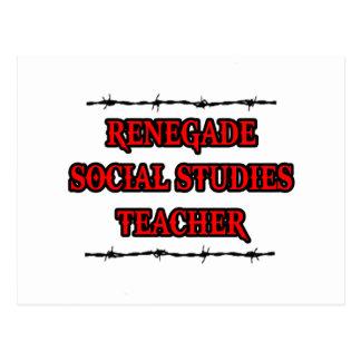 Renegade Social Studies Teacher Postcard