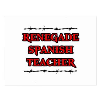 Renegade Spanish Teacher Postcard