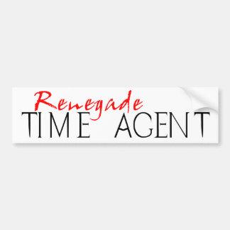Renegade Time Agent Car Bumper Sticker