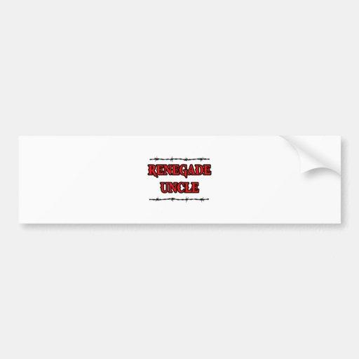 Renegade Uncle Car Bumper Sticker