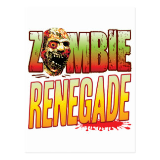 Renegade Zombie Head Postcard