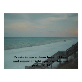 RENEW A RIGHT SPIRIT WITHIN ME POSTER