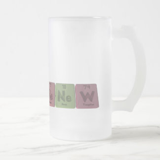 Renew-Re-Ne-W-Rhenium-Neon-Tungsten.png Frosted Glass Beer Mug