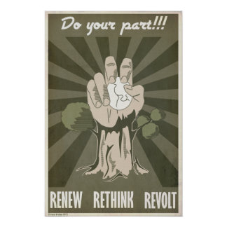 Renew Rethink Revolt Print