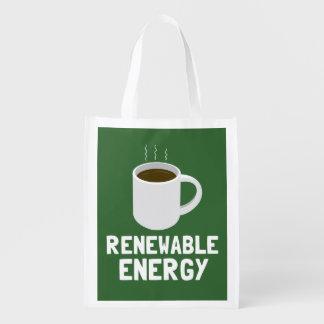 Renewable Energy Coffee Cup Grocery Bag