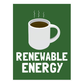 Renewable Energy Coffee Cup Postcard