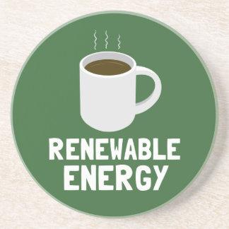 Renewable Energy Coffee Cup Sandstone Coaster