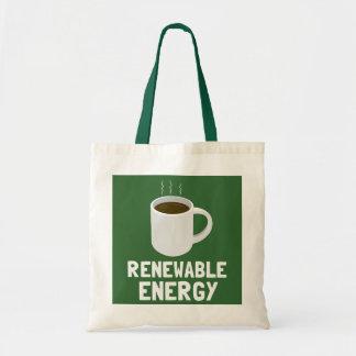 Renewable Energy Coffee Cup Tote Bag