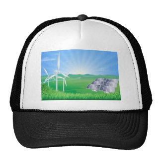 Renewable energy illustration mesh hat