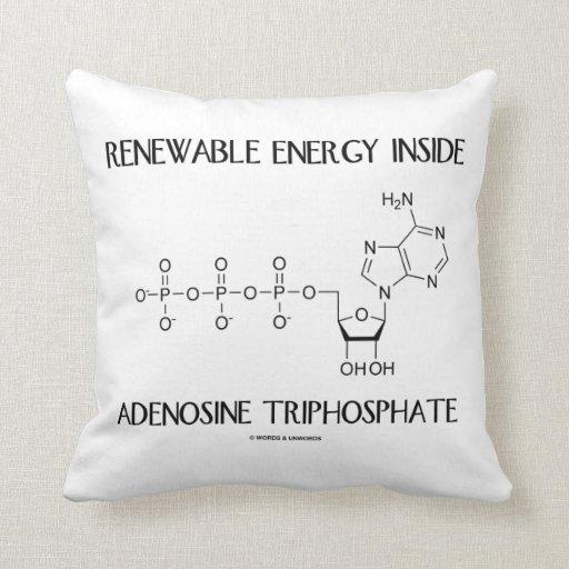 Renewable Energy Inside Adenosine Triphosphate Throw Pillows