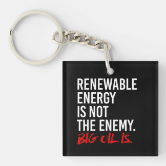 RENEWABLE ENERGY IS NOT THE ENEMY - - Pro-Science  Keychain