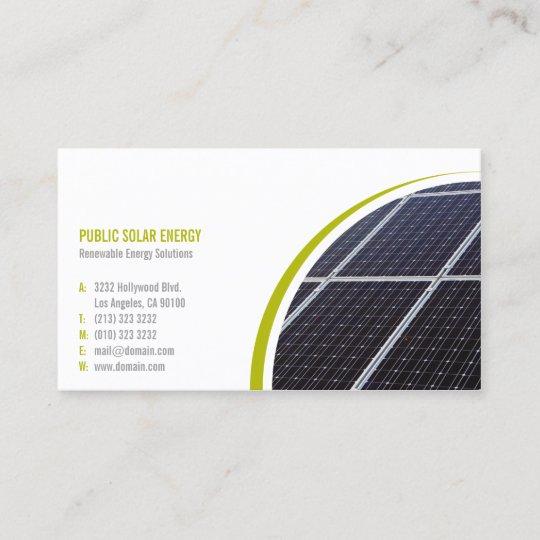 Renewable energy solutions solar business card zazzle renewable energy solutions solar business card colourmoves
