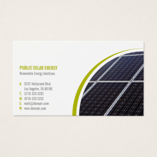 Environmental business cards templates zazzle renewable energy solutions solar business card colourmoves Images