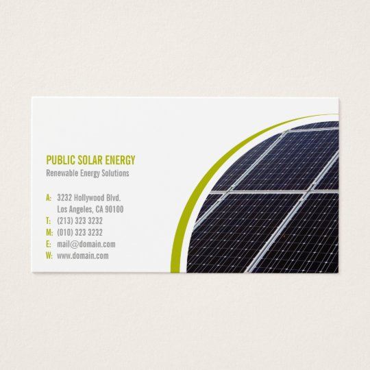 Renewable energy solutions solar business card zazzle renewable energy solutions solar business card colourmoves Image collections