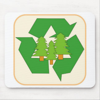 Renewable Green Resource Sign Mouse Pad