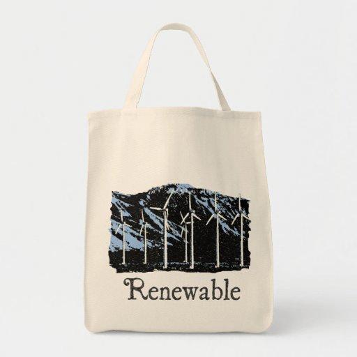 Renewable Wind Energy Organic Tote Bag