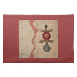 Renewal, collage cloth placemat