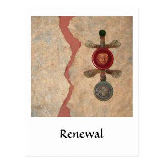 Renewal, collage postcard