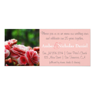 Renewal of vows & 25th Anniversary: Pink Carnation Invitation