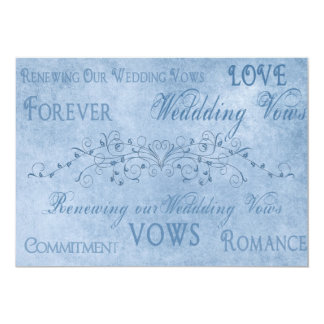 Renewal Wedding Vows - Blue Textures Card