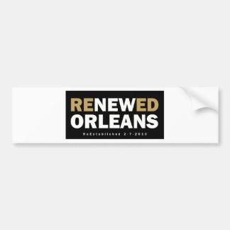 Renewed Orleans Bumper Sticker