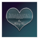 Renewing of Wedding Vows - Faux Diamond Heart 5.25x5.25 Square Paper Invitation Card