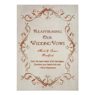 Renewing Our Vows - Orange/Beige - Design Card