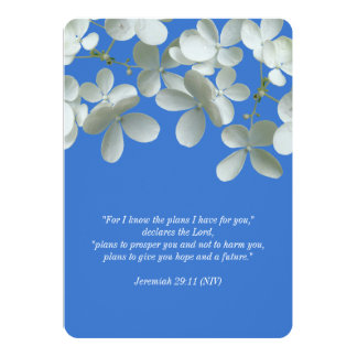Renewing Vows Blue and White Floral Invitations