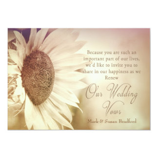 Renewing Vows Invitation - Sunflower - Soft Effect
