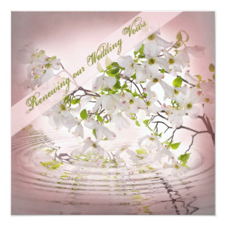 Renewing Vows Invitation  - Sweet Apple Blossoms