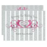 Renewing Wed. Vows Invitation - Gray/Pink/Elegant