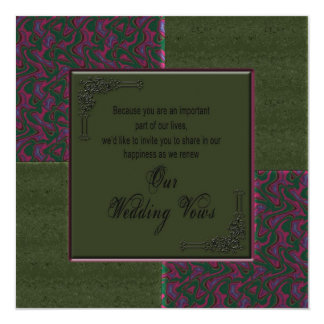 Renewing Wedding Vows In viation - Designer Card