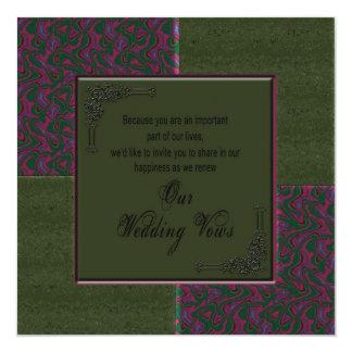 Renewing Wedding Vows In viation - Designer 5.25x5.25 Square Paper Invitation Card