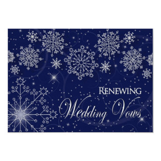 RENEWING WEDDING VOWS - INVIATION-WINTER-SNOW CARD