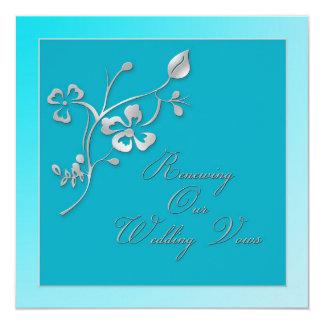 """Renewing Wedding Vows Invitation 5.25"""" Square Invitation Card"""