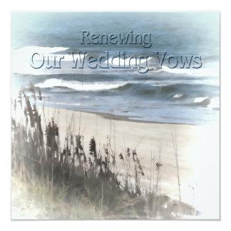 Renewing Wedding Vows Invitation - Beach/Ocean